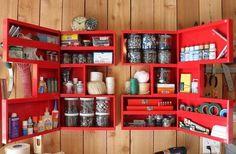 Rangement garage avec placard