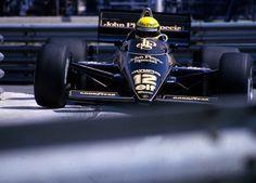 Ayrton Senna - Lotus 97T Renault EF4 - John Player Special Team Lotus - XLIII Grand Prix Automobile de Monaco - 1985 FIA Formula 1 World Championship, round 5