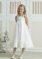Kjole til brudepike ivory, ivory brudepikekjole, brudepike kjole, blomsterpikekjole, blomsterpike kjole, 08-343-CR Abelone og Lises brudesalong ca 900 kr