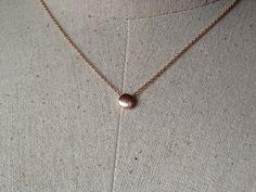 Rose Gold Dot Necklace Dainty Necklace Tiny Dot by GreatLakesShop
