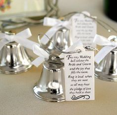 24 Mini Ring For A Kiss, Wedding Kissing Bells, Wedding Bells for DIY Wedding Supplies, table decorations