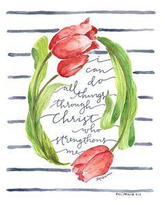 All Things Through Christ Canvas