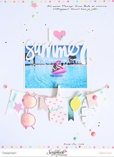 I Love Summer layout by Ulrike Dold