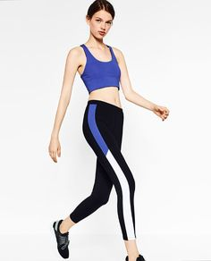 Image 3 of TWO-TONED SPORTY LEGGINGS from Zara