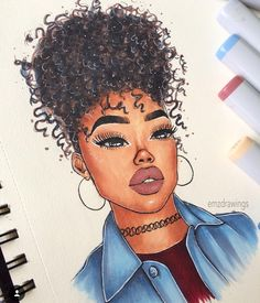 ❤ Desenho_rosto_aquarela_negras ou não ❤ Thin Hair Cuts cuts for thin hair pictures Black Love Art, Black Girl Art, Art Girl, Black Girl Cartoon, Cartoon Girl Drawing, African American Art, African Art, Afro Punk, Drawings Of Black Girls