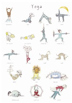 A poster of my Kids Yoga book images is now on sale online at Yogamatters. It is also available Heffers Bookshop in Cambridge (among the kids…