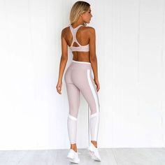 Tracksuits & Sets Clothing, Shoes & Accessories Women 2pcs Yoga Suit Workout Gym Running Sports Bra Legging Pants Athletic Set Drip-Dry