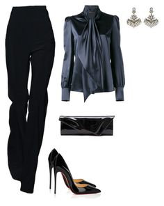 """""""Untitled #5695"""" by teastylef ❤ liked on Polyvore featuring Christian Louboutin, Yves Saint Laurent and Amrapali"""