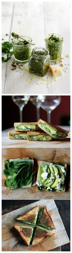Avocado Pesto Grilled Cheese Sandwich | Cook Like an Artist