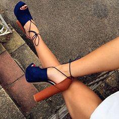 2016 Shoespie Color Block Chunky Heel Platform Sandals