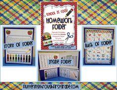 Fluttering Through First Grade: Homework folder