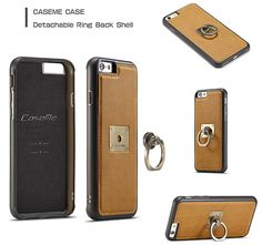 CaseMe iPhone 6S Plus/6 Plus Detachable Ring Stand Magnetic Back Cover