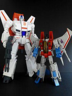 Daca Toys Kronos (Skyfire) with Transformers: Masterpiece MP-11 Starscream
