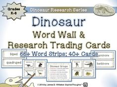 [[Dinosaur Research Series]]Dinosaur & Other Prehistoric Creatures Word Wall & Research Trading Cards  Grades 3-8  Purchase all 3 of My Dinosaur Products for $$$avings!   1]  Dinosaur Mega Bundle: 3 Products in 1!  Individual Products:   1] Dinosaur Posters & Research Activities  2] Dinosaur Word Wall & Trading Cards  3] Dinosaur Large Research Fold-Ems  Product Overview/Preface:  Provided is a set 50 Word Wall Strips and 40+ Dinosaur Research Trading Cards.
