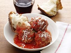 Pepperoni Meatballs - Three types of beef come together with chili paste, fennel, anise seeds and a splash of red wine.