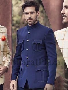 Mens Wedding Wear Indian, Wedding Dresses Men Indian, Wedding Dress Men, Blue Suit Men, Navy Blue Suit, Latest African Fashion Dresses, African Men Fashion, Mens Fashion Suits, Mens Suits