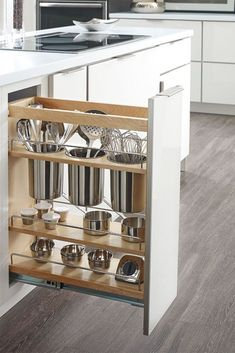 Home Decor Inspiration : A kitchen cabinet pull-out for storage of kitchen utens.,Home Decor Inspiration : A kitchen cabinet pull-out for storage of kitchen utensils I need this! Elevate Your Place With New Kitchen Decoration Your . Cute Kitchen, Smart Kitchen, New Kitchen, Kitchen Decor, Organized Kitchen, Kitchen Small, Condo Kitchen, Narrow Kitchen, Decorating Kitchen
