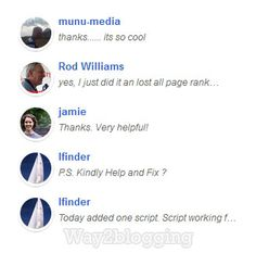 Blogger Recent Comments Widget with Gravatar