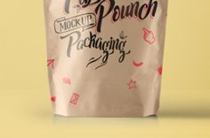 This is the front view of our psd paper pouch packaging. You can use our psd paper stand up pouch for...