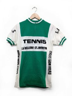 Vintage French cycling jersey  La Bellerie St. Avertin Cycling Art 52512e360