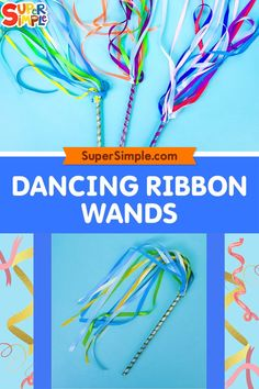 It's time for a dance party! These dancing ribbon wands will elevate your dance party to new heights! They are so much fun to play with and are simple to make – no fancy hardware needed and no mess! We also designed these wands to be safer for little ones with shorter ribbon stands so they don't get tangled up and are easier for little hands to twirl.
