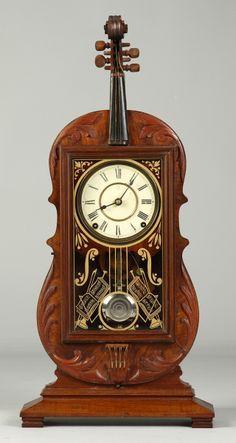 Seth Thomas violin case mantle clock