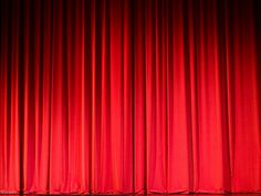 red curtain photo - Google Search