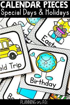 SPECIAL DAYS (Holidays Kindergarten Calendar, Calendar Activities, Kindergarten Classroom, Classroom Decor, Calendar Bulletin Boards, Classroom Calendar, School Calendar, Special Day Calendar, Holiday Calendar