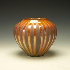 Raku Pottery lustrous crackle decorative by TimcoArtPottery, $125.00