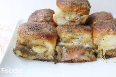 ham and cheese sliders( aka-funeral sandwiches)