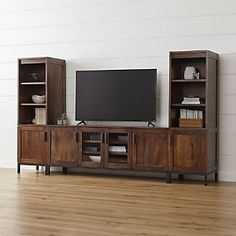 """Wyatt 72"""" Media Console with 2 Media Towers - Crate and Barrel"""