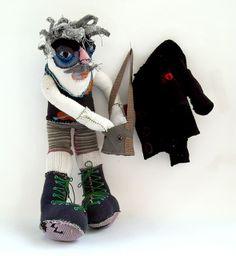 Mustached Sock Doll by netamir, via Flickr