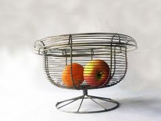 French Vintage Collectible Wire Basket  by PetitesChosesDeLaVie, $30.00