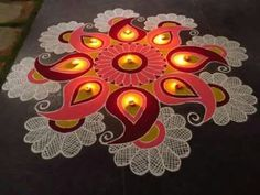 Here are some rangoli designs for diwali which we are going to discuss and these Special rangoli for diwali are very easy rangoli designs for diwali, which makes your diwali special Best Rangoli Design, Diwali Special Rangoli Design, Indian Rangoli Designs, Rangoli Designs Flower, Free Hand Rangoli Design, Rangoli Designs Images, Rangoli Designs With Dots, Diwali Rangoli, Flower Rangoli