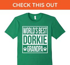 Mens World's best dorkie grandpa shirt XL Kelly Green - Relatives and family shirts (*Amazon Partner-Link)