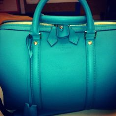 Louis Vuitton Sofia Coppola turquoise bag
