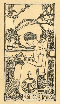 ≡ Bookplate Estate ≡ vintage ex libris labels︱artful book plates - Ex libris by Lajos Kozma (1884-1948)