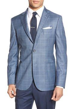 John W. Nordstrom® Classic Fit Windowpane Wool Sport Coat