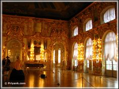 The Amber Room or the Amber Chamber - Regarded as the 8th wonder of the world before it was pillaged by Nazi's. Restored in 2003.