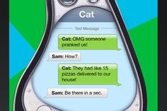 Sam and cat; Cat's text messages!
