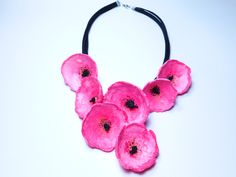 Spring series/poppy flower Paper Jewelry, Jewelry Necklaces, Acrylic Colors, Decoration, Poppies, Joy, Spring, Flowers, Handmade