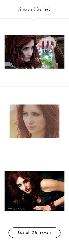 """""""Susan Coffey"""" by emma-frost-98 ❤ liked on Polyvore featuring susan coffey, celebrities, people, models, characters, female model, pictures, accessories, girls and site models"""