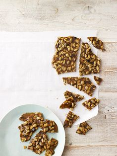 Pumpkin-Seed Brittle, made with crunchy raw pepitas and warm cinnamon
