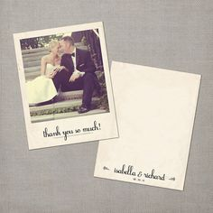 Vintage Wedding Thank You Polaroid Cards  the by NostalgicImprints, $37.00