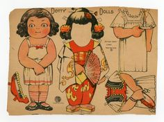 78.2771: Dotty Dolls | paper doll | Paper Dolls | Dolls | National Museum of Play Online Collections | The Strong