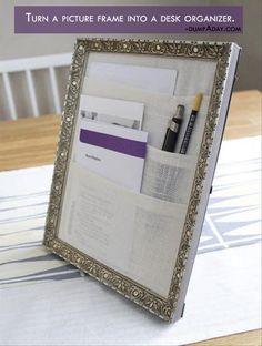 picture frame desk organizer
