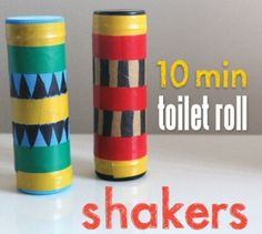 10 Minute Toilet Roll Shakers {Crafts}