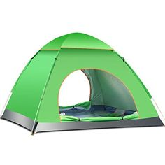 Tinksky 34 Person Beach Sun Shelter Camping Tent Fast and Automatic for Best Family Camping Fishing Hiking or Outdoor Picnic Green *** You can find more details by visiting the image link.
