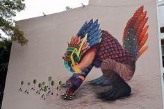 """El Curiot - Brazilian Street Artist - """"El Retorno de Akhankutli"""" - 2013 #elcuriot #streetart"""