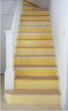super cute stair tiles